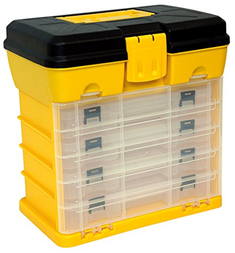 Homak 12-Inch Plastic Portable Parts Organizer, Large, Yellow, HA01040121 by Homak Mfg. Co., Inc.