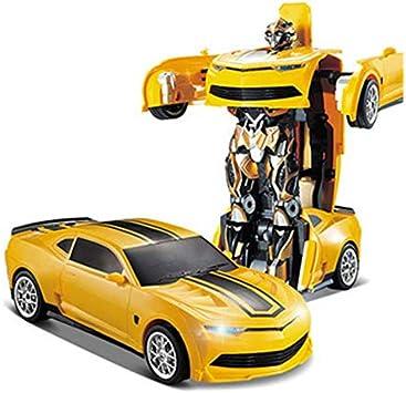 2.4G R / C سيارة روبوت الكهربائية التحول عن بعد لعب-صفراء مراقبة الأطفال أطفال