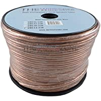 The Wires Zone SWC14-250 Clear Transparent, 250, 14 Gauge, AWG Speaker Wire Cable for Car Home Audio