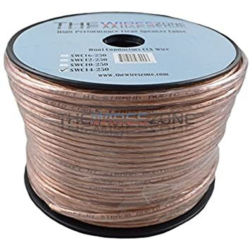 25 feet Car Home Audio Speaker Wire Transparent Clear Cable 14AWG 14//2 Gauge