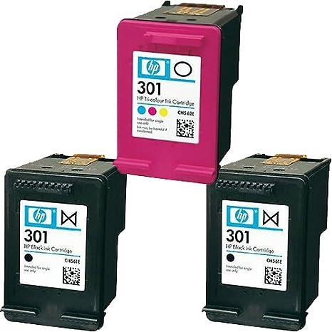 2 x y 1 negra Original HP 301 color arranview cartuchos de tinta ...