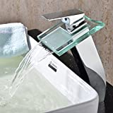 Bathtub Faucet Filter Lightinthebox Deck Mount Widespread Waterfall Bathroom Sink Faucet with Glass Spout Bathtub Mixer Taps Bath Tub Faucets Filter Single Hole Vessel Sink Lavatory Faucet