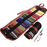 Valkyria Crafts Watercolor Pencils Set of 48 with FREE Water Brush, Sharpener, and Eraser