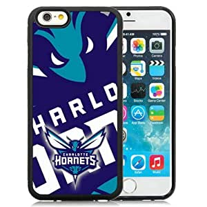 Great Quality iPhone 6 4.7 Inch TPU Case ,Beautiful And Unique Designed Case With Charlotte Hornets 4 Black iPhone 6 Cover Phone Case