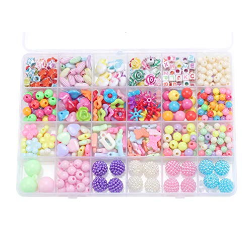 NeWisdom DIY Series Girls Pop Beads Jewelry Making Kit, TOP Preschool Girls Toys and Gifts, Birthday Gift Ideals for Sisters, Best Gifts for Teen Girls - 24 Grid Colorful Life