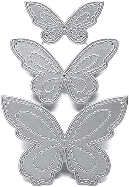 Large Métal coupe meurt pochoir gaufrage pour papier CRAFTER-Papillon Cadre