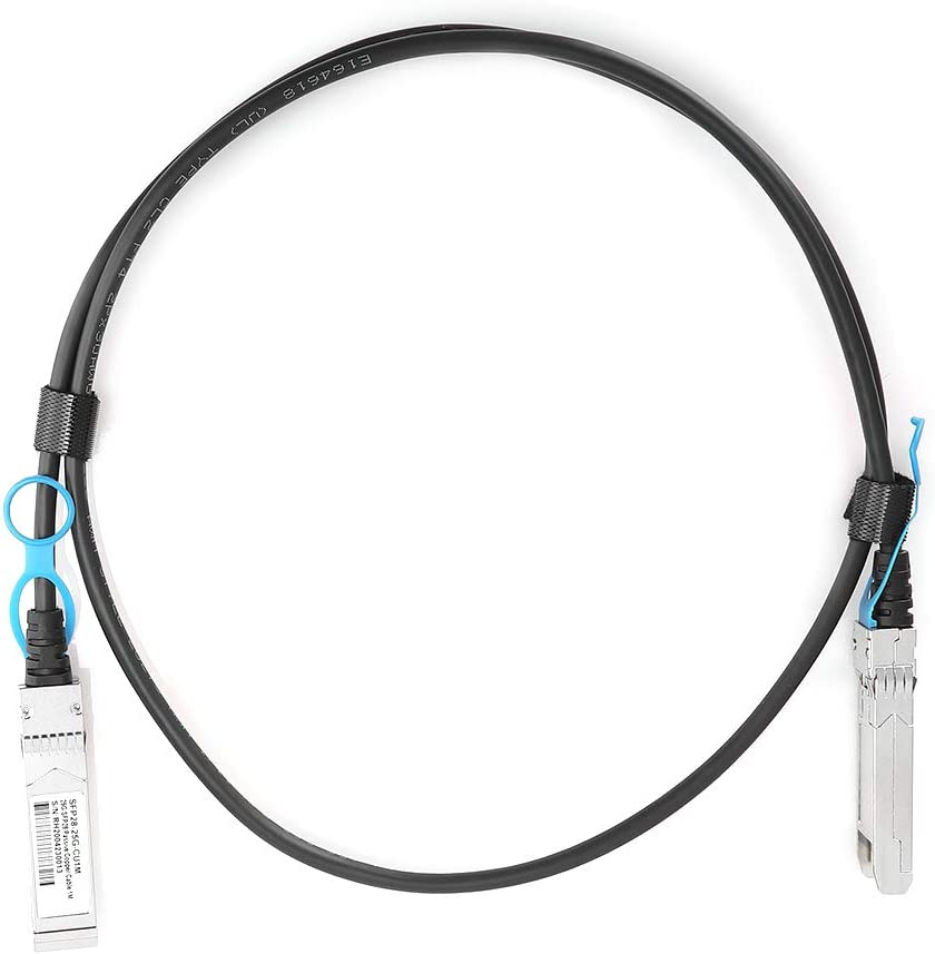 for High‑Speed Network Cards for Servers eboxer-1 Silver‑Plated DAC Cable 1M for Big Data in Cloud Computing for Data Centers, for Unmanned Vehicles