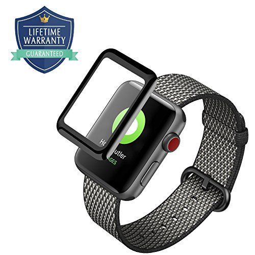 Vanford - Apple Watch Screen Protector (Series 3/2 / 1 Compatible) Full Coverage 3D Curved Edge Tempered Glass Screen Protector for Apple Watch (38 mm)