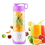 CloverTale Mini USB Rechargeable Electric Fruit Juicer portable Blender with Charging Cable Magnetic Safety Lock (Purple)