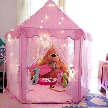 Amazon.com: Intency Pink Princess Castle Kids Play Tent Large ...