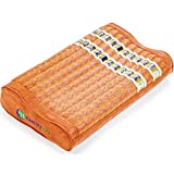 HealthyLine Memory Foam Pillow 18″x10″|Natural Amethyst, Tourmaline & Obsidian|Contoured Neck and Shoulder Support|US FDA Registered