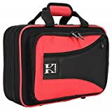 Kaces KBO-CLRD Lightweight Hardshell Clarinet Case, Red