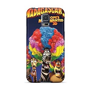 Protector Hard Cell-phone Case For Samsung Galaxy S5 With Provide Private Custom Trendy Madagascar 3 Skin AlissaDubois