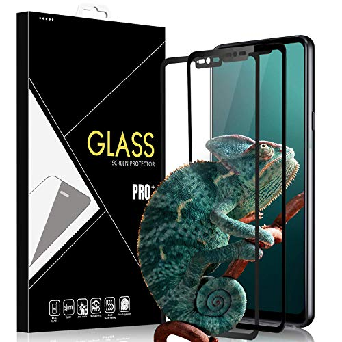 Yersan LG G7 ThinQ Screen Protector [2 Pack], Full Coverage HD Tempered Glass Anti-Scratch Bubble-Free Screen Protector for LG G7 ThinQ