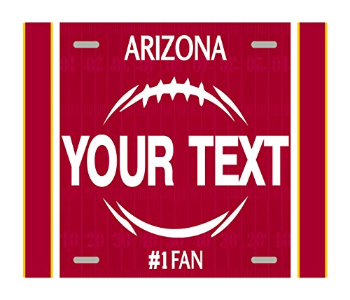 - BleuReign(TM) Personalized Custom Name Football Arizona License Plate Square Refrigerator Fridge Magnet