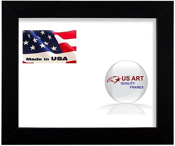 US Art 3x3 Custom Black 1.125 inch Picture Poster Photo Frame Solid Wood #CTM1125