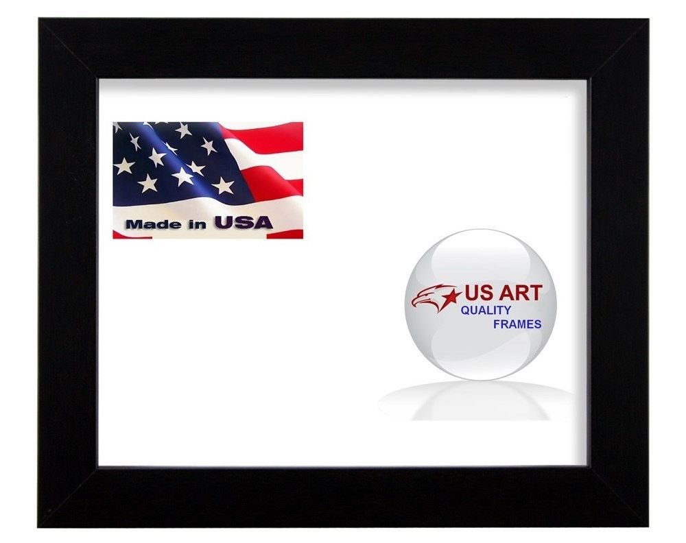 US Art 18x24 Black 1.125 inch Wide Picture Poster Photo Frame Solid Wood #SldWd1 by US Art (Image #2)