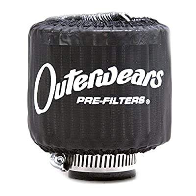 "Black Outerwear Prefilter Without Top Round 2"" Diameter 10-1132-01: Automotive"