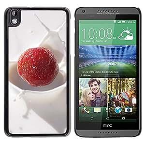 Be Good Phone Accessory // Dura Cáscara cubierta Protectora Caso Carcasa Funda de Protección para HTC DESIRE 816 // Fruit Macro Creamy Raspberry
