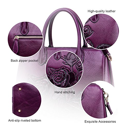 for Cowhide Leather Classic Crossbody women Bags APHISONUK Bag handbags Green Designer Messenger Genuine Satchel Leather Ladies Female Shoulder Tote Vintage bag Purple vq8wz8tg