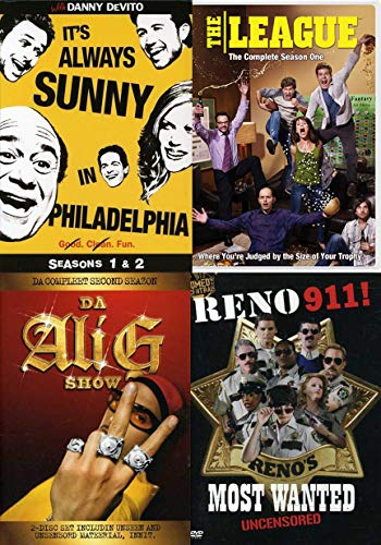 Top Notch SHENANIGANS - It's Always Sunny In Philadephia Season 1 & 2 Reno 911 Most Wanted + The League Season one Fantasy Football & Da Ali G Show Comedy ()