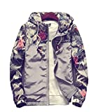 Tuesdays2 Floral Bomber Jacket Men Hip Hop Slim Fit Flowers Bomber Jacket Coat Men's Hooded Jackets Plus Size