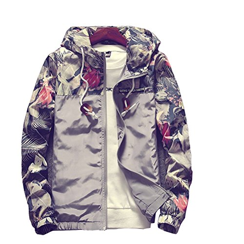 Tuesdays2 Floral Bomber Jacket Men Hip Hop Slim Fit Flowers Bomber ...