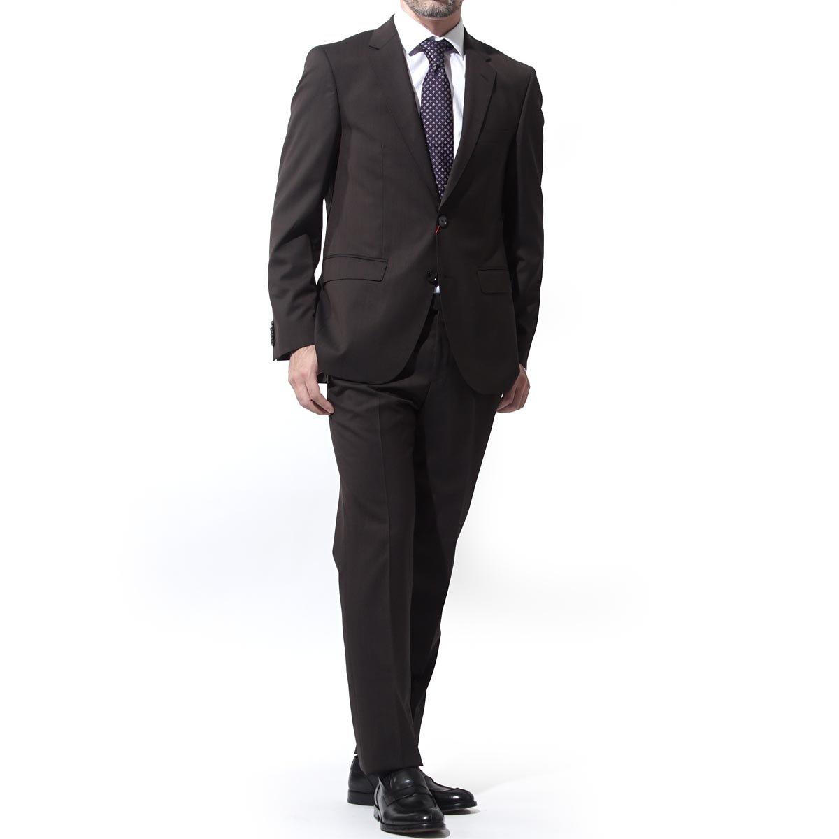 (ヒューゴボス) HUGO HUGOBOSS ストレッチ 2つボタン スーツ/JEFFRY/SIMMONS 182 REGULAR FIT レギュラーフィット [並行輸入品] B07DGDBYKH 52