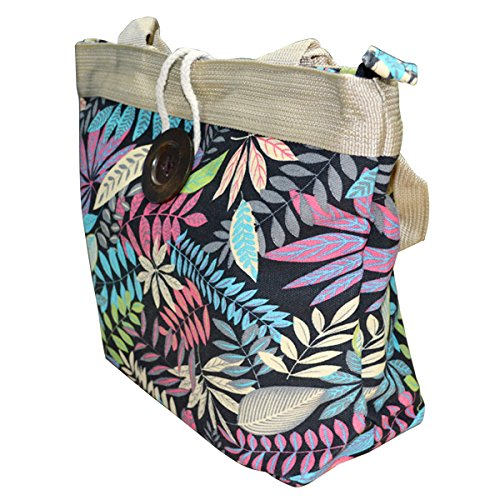De Plage Aisi Red Djb Femme rose Leaves 05 Sac pEZ6q5