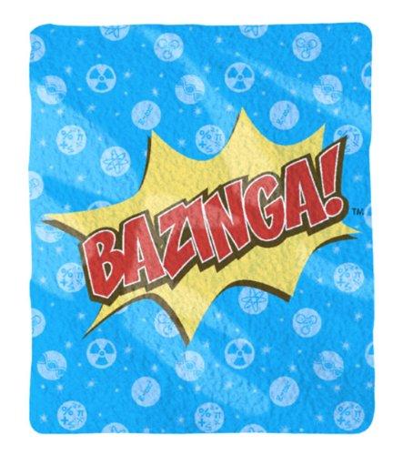 The Big Bang Theory Bazinga Throw Plush Blanket