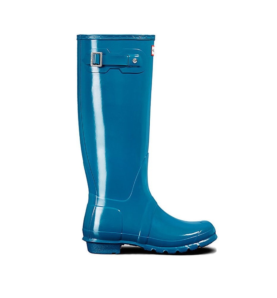 Womens Hunter Original Tall Gloss Waterproof Wellington Winter Rain Boot B01JOU10MI 5 B(M) US Ocean