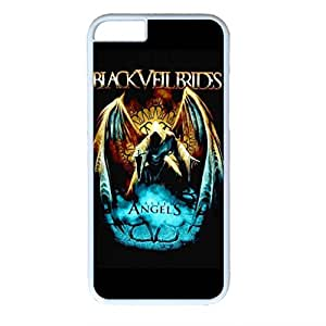 Black Veil Brides Hard Back Cover Snap on PC White Case for iPhone 6 (4.7 inch)