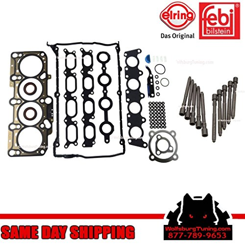 Audi A4 B5 TT MK4 VW Jetta GTI 1.8T 1.8 Turbo Cylinder Head Bolt Gasket Set 1997 - 2006 OEM - Golf Cylinder Head