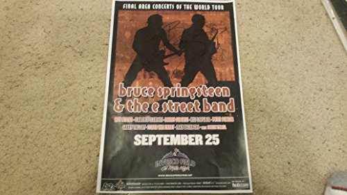 BRUCE SPRINGSTEEN & E Street Band signed 11x17 poster 9/25/03 Invesco Field