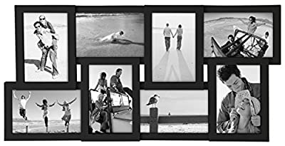 Malden International Designs Puzzle Collage Picture Frame, 8 Option, 8-4x6, Black