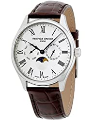 Frederique Constant Classics Silver Dial Leather Strap Mens Watch FC260WR5B6DBR