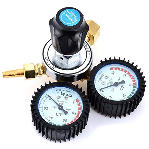 SODIAL 1Pc Reliable Co2 Gas Reducing Valve Flow Meter For Mig Welding Beer Brew Cutting Pressure Reducing Regulators Valve