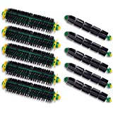 I-clean Replacement Bristle Brush and Flexible Beater Brush5 Set] for iRobot Roomba 500 Series 510 530 535 540 550 560 570 580 Vacuum Cleaning Robots