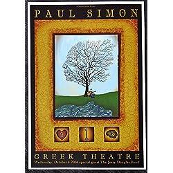 Paul Simon - Live at The Greek Theatre - Tour Advertising Mini Poster - Los Angeles 2006