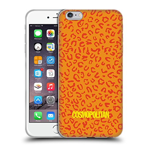 Official Cosmopolitan Orange Leopard Animal Skin Patterns Soft Gel Case for Apple iPhone 6 Plus / 6s Plus