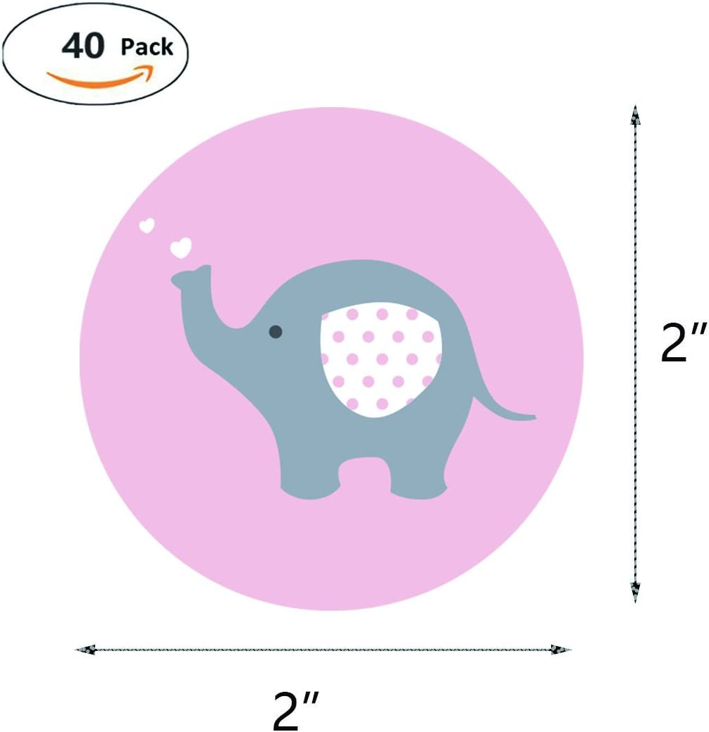 20 BLUE ELEPHANT PINK ELEPHANT BABY SHOWER NAME TAGS