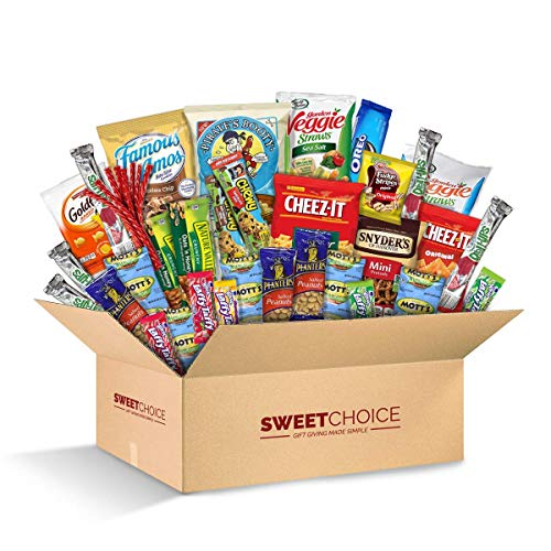 Sweet Choice (40 Count) Ultimate Sampler Mixed Bars, Cookies, Chips, Candy Snacks Box for Office, Meetings, Schools,Friends & Family, Military,College, Snack Variety Pack, Christmas gift basket