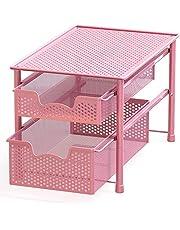 SimpleHouseware Stackable 2 Tier Sliding Basket Organizer Drawer