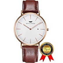 BRIGADA Swiss Watches for Men Women, Fashion Minimalist Quartz Men's Women's Watch, Great Gift for Someone or Yourself