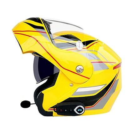 Allround Helmets Casco De Moto Ventilación A Prueba De Lluvia con Micrófono Bluetooth Motocicleta De Cara