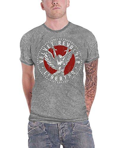 Velvet Revolver T Shirt Libertad Band Logo Official Mens Grey Burnout Size XL