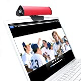 GOgroove SonaVERSE USB Clip On Laptop Speaker Sound Bar (Red) w/ USB Plug-n-Play Design – Works With Toshiba , Asus , HP , Samsung , Acer , Dell , Sony , Lenovo Laptops & More