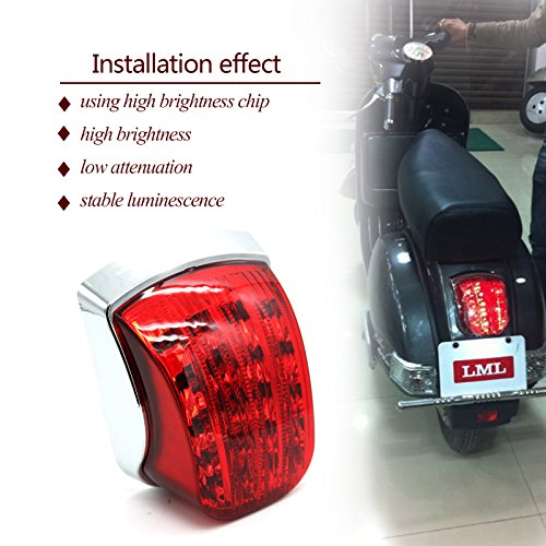 - Chrome LED Tail Light For Vespa PX 125 150 200 LML Scooter Star Stella Belladonna/NV 2 STROK/NV 4 STROKE/STAR EURO 150 200