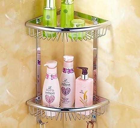 MSRRY 3 cu todos cesta CESTA DE ESQUINA esquina esquina wc baño toallas de baño soporte para esquina percha rack 3 esquina carrito toallero: Amazon.es: ...