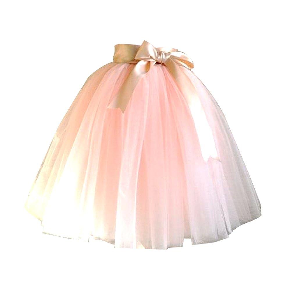 CoutureBridal - Falda - trapecio - para niña naranja Orange Pink ...